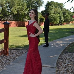Jovani Red Size 0 Gown